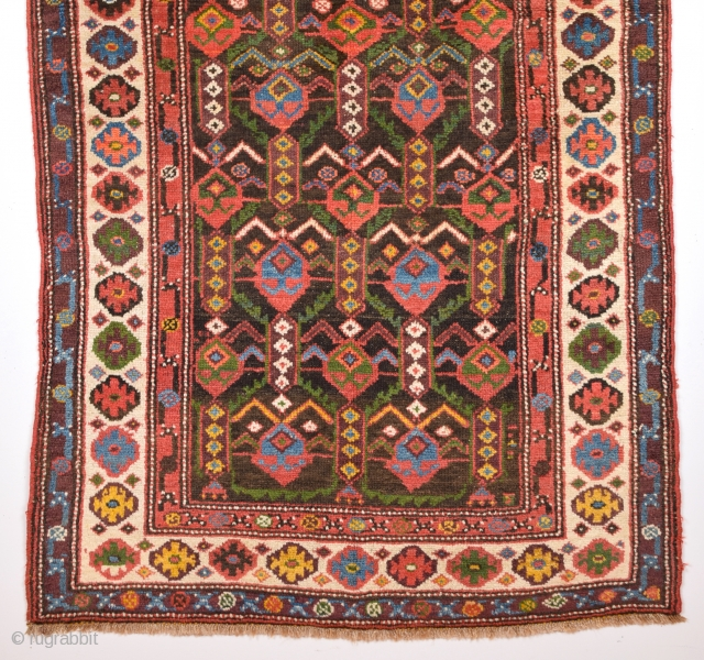 19th Century Unusual Nord West Persian Rug Size 107 x 184 Cm.It's in Perfect Condition And Untouched One.