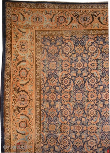 "Tabriz Persian circa 1915 antique. Size: 390 x 292 (cm) 12' 9"" x 9' 7""  carpet ID: P-5868