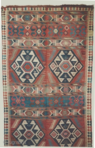 "Palace Caucasian kilim circa 1870 antique. Size: 483 x 185 (cm) 15' 10"" x 6' 1""  carpet ID: A-880