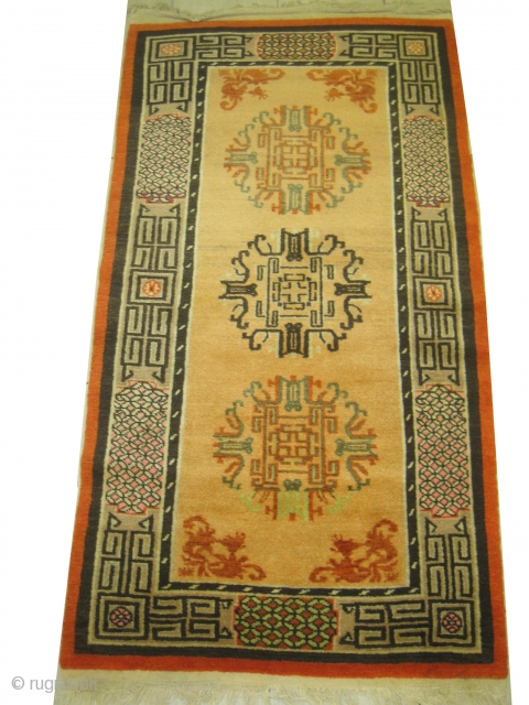 Samarkand, old, 90 x 166 cm, carpet ID: SRO-12 Both edges are finished with 3cm kilim, high pile in perfect condition.