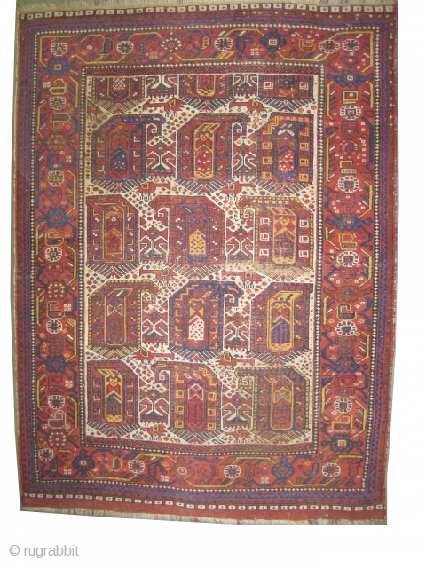 "Khamseh Persian knotted circa in 1890 antique. 167 x 126 (cm) 5' 6"" x 4' 2""  carpet ID: K-4083