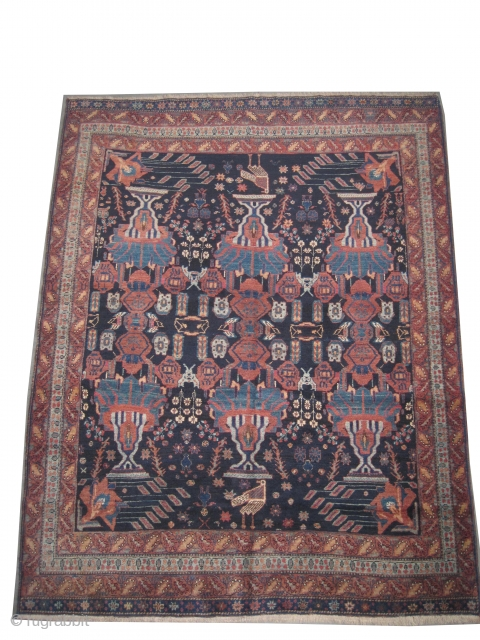 "Afshar Persian knotted circa in 1925 semi antique, collector's item,  194 x 152 (cm) 6' 4"" x 5'  carpet ID: K-4277