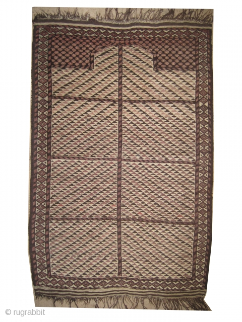"Beshir prayer Turkmen circa 1890, antique, collector's item, Size: 130 x 91 (cm) 4' 3"" x 3' , carpet ID: ZZ-1 