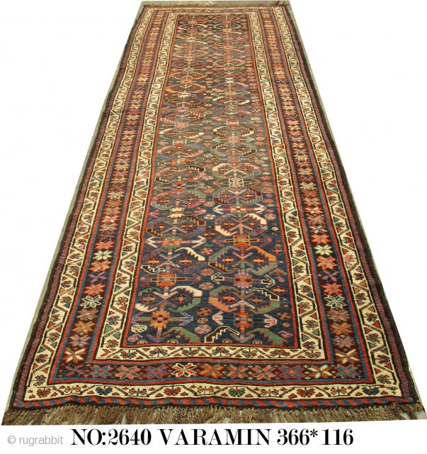 Rug no: 2640, Late 19th Century Persian Varamin, nomadic Kurdi weave woven in a tent near Varamin in North-East of Persia ( Iran) , fully restored, rare, piece, collectable. 