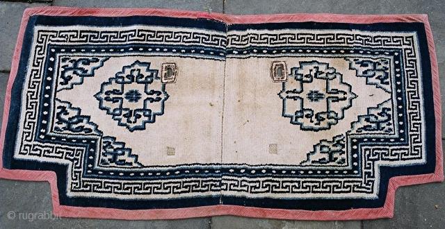 A very good Tibetan saddle cover, c 1900.
