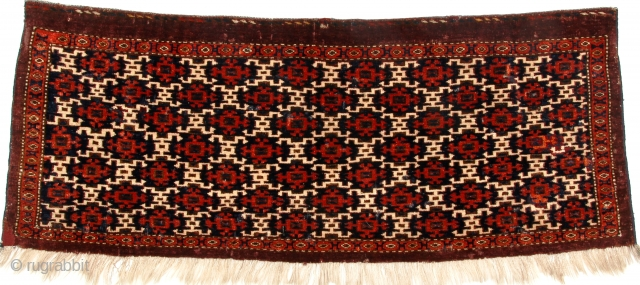 Eagle-group torba, 3.4 X 1.6 feet (101 X 46 cm); late 18th - early 19th century; Fat, soft lustrous wool pile with dense weave in excellent condition, all natural dyes, As Open  ...