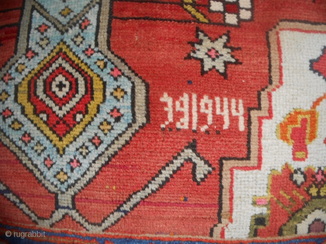 Azerbaijan MESHKIN antique carpet with date 1944. FULL pile and perfect condition. All wool. 225 x 120 cm is the size. More pictures on request. ALL the best !