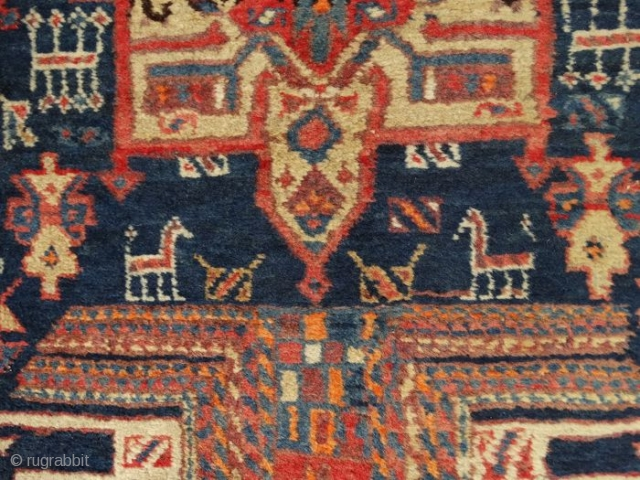 2 9 2  x  9 1  cm. is the size of this antique Karadjeh. Very good colours and very