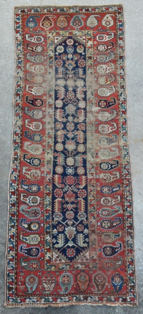 Antique Caucasian Rug - 3'6 x 8'11 - 107 x 271 cm. - Hope to see you at ARTS San Francisco next month - http://artsrugshow.net/