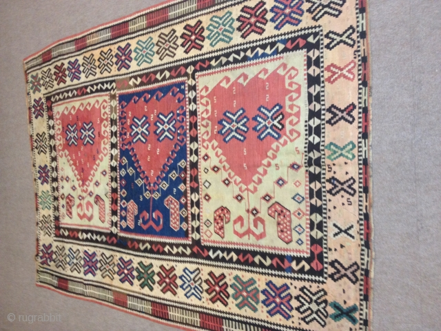 Size 220x130 Kilim with saf design