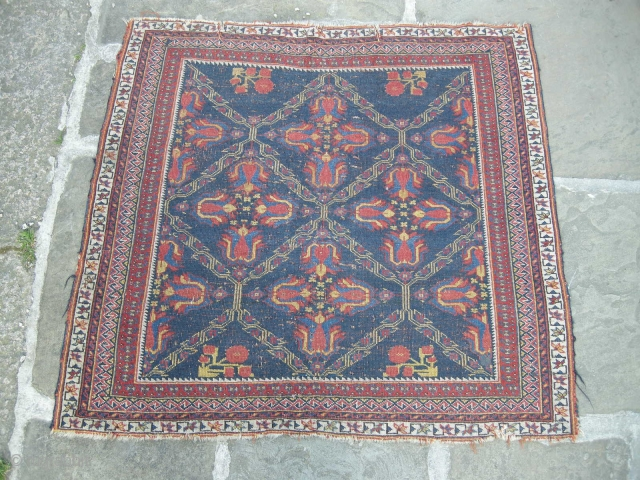 A charming fine antique afshar Pouchti 93 x 100 cm,