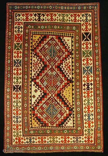 "Kazak,    224 x 147 cm /7\'4"" x 4\'10\"" ft   19th Century"