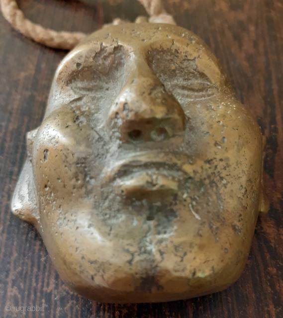 Antique Naga brass piece, 19c