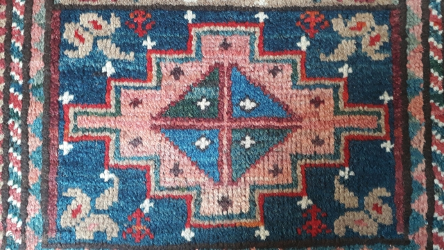 Balochi balisht with very rich colors. Size 75x55 cm