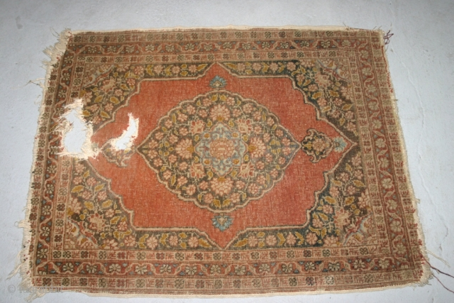 A Small Hadji Jalili rug.75x60 cm.Very nice...