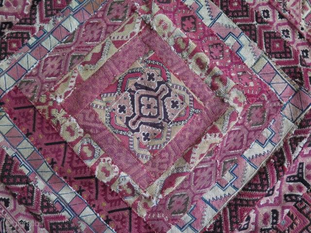 Antique Greek embroidery. Size: 93 cm x 93 cm.