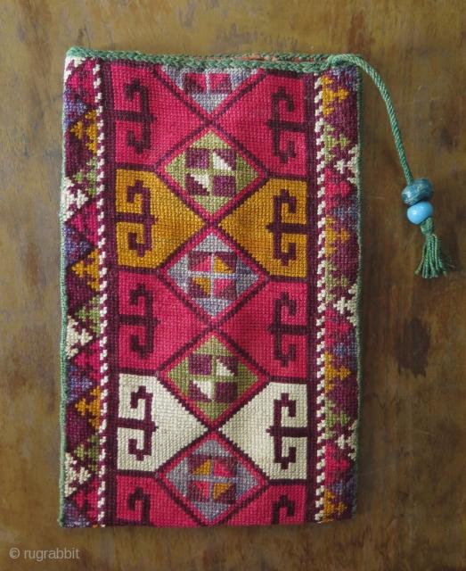 """Uzbekistan silk iroqi pouch. Size: 5"""" x 7.7"""" - 13 cm x 19.5 cm."""