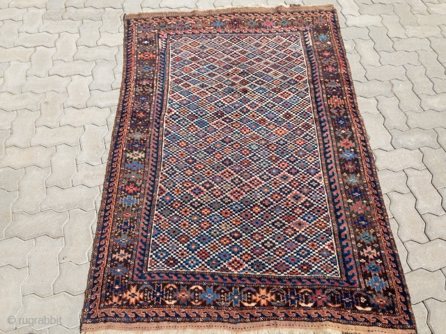 Antique Kordi rug from Khorassan, Northeast Persia, 19th century, very nice cube design. Size: ca. 182x120cm / 6ft x 4ft