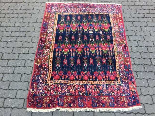 Colorful antique South Persian Afshar / Neiriz rug, wool on wool foundation. Size: 180x130cm / 6ft x 4'3''ft  www.najib.de
