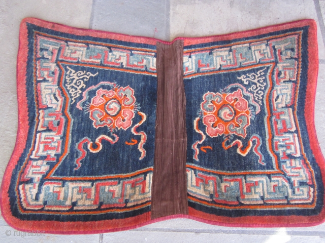 Tibetan butterfly-type saddle piece. c.1930 Sophisticated drawing, good color and excellent condition SOLD