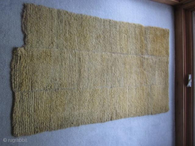 Tibetan Tsuk Truk Bedding rug. Rare Yellow Minimalism $600