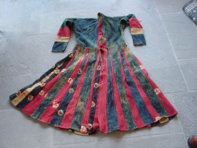 Antique Tibetan tie-dyed dress, Zanskar, Ladakh, India. Nick Wright, East of the Bosphorus
