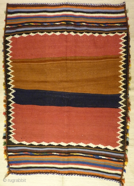 Qashqai bread soffreh, 152x112cms, with artistic central field, from about 1960, with traces of flour.