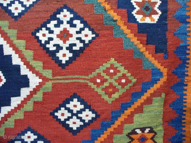 Large Qashqai Alandali Kilim, superb khans wedding blanket kilim, end of 19th C. all natural dyes, collectors piece in excellent condition.