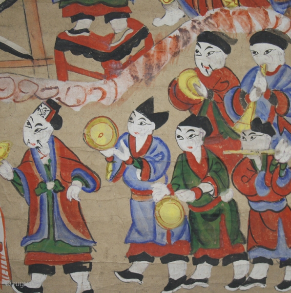 Shaman' s painting cod. 0439 one of the items just posted on my new website www.nonplusultra.cloud. Pigments on rice paper. Yao people. Guanxi or Hunnan area. China. Late 19th. century. Very good  ...