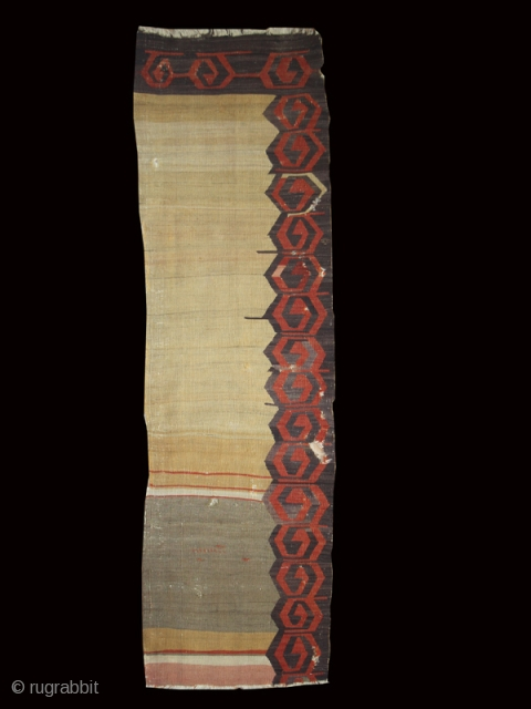 "Anatolian kilim cod. 0672. One of the items just posted on my new website www.nonplusultra.cloud. Wool. Kappadocia area. Central Anatolia. Late 18th. century. Cm. 255 x 70 (8'4"" x 2'3""). Signs of  ..."