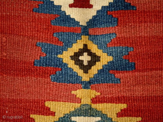 """Kilim cod. 0201. Wool natural dyes. Shahsavan people. Northwestern Persia. late 19th. century. Very good condition. Cm. 165 x 355 (5'5"""" x 11'8""""). Offered at a very resonable price."""