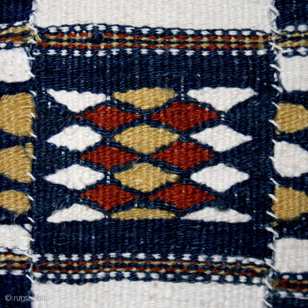 """Ceremonial blanket's """"Arkilla jeengo """" fragment cod. 0346. One of the items posted on my new website www.nonplusultra.cloud. Wool cotton and natural dyes. Fulani people. Mali. Second quarter 20th. century. Very good  ..."""