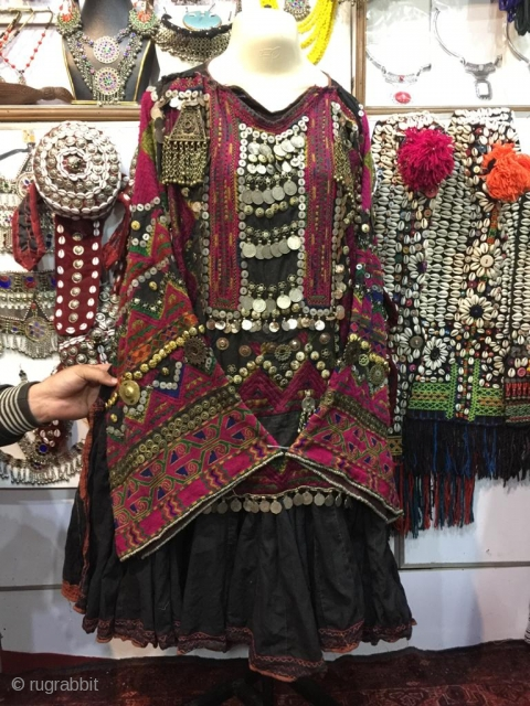 Tribal Jumlo wedding dress from Nuristan , Afghanistan.