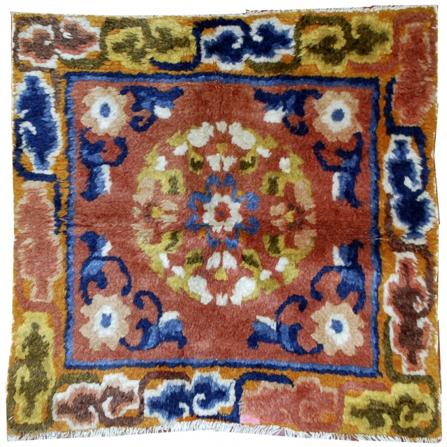 #1B546  Hand made antique collectible Chinese Ningsha rug 1.1' x 1.9' ( 33cm x 58cm) C.1880