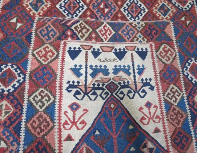 Anatolian Erzurum kilim with date . 161 x 123 cm. www.eymen.com.tr