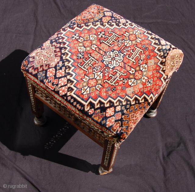Qashqai stool. 43 x 42 x 44 cm. One of a pair. 19th.c.
