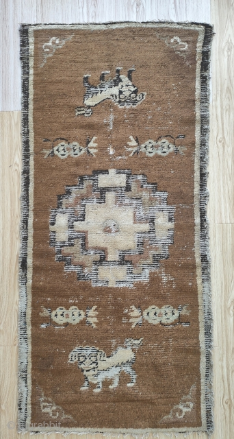 a rare early rug from chifeng area in inner mongolia. it doesen t mean that mongolian people were weaving rugs.