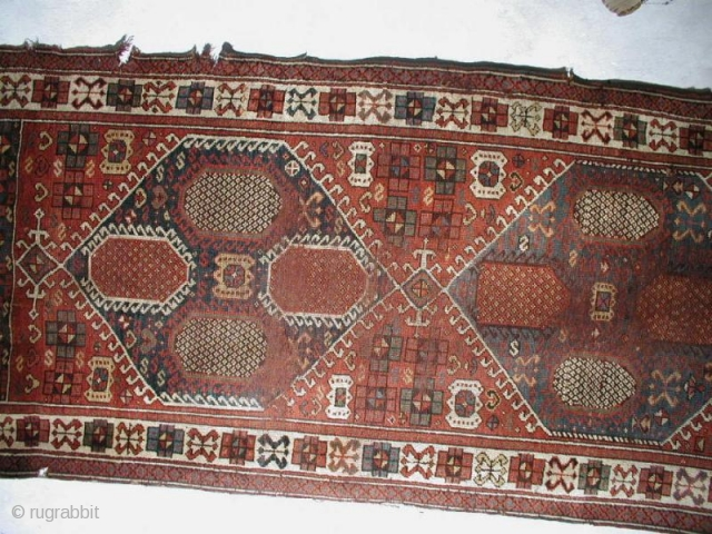 Unusual long rug , kurdish ?