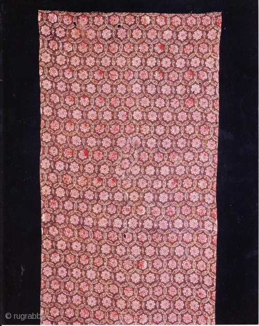 Indian Trade textiles 010, Basta, Block-prints, For the Indonesian market, plays important role as a ceremonial cloth, early 19th century, good condition. Price on request.