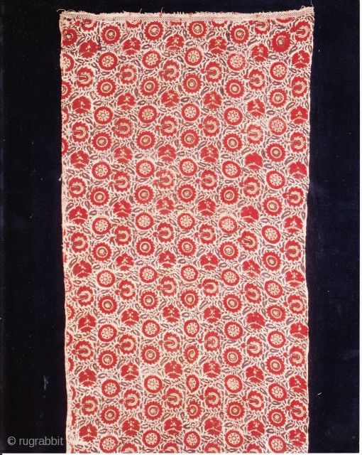 Indian Trade textiles 017, Basta, Blockprints, For the Indonesian market, plays important role as a ceremonial cloth, early 19th century, good condition. Price on request.