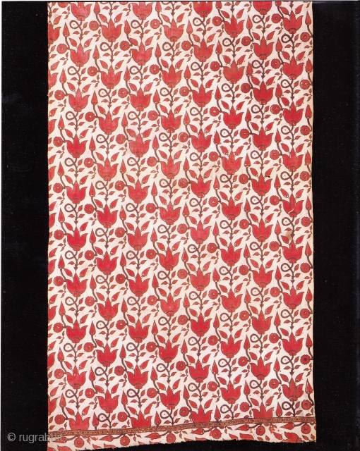 Indian Trade textiles 021, Basta, Block-prints, For the Indonesian market, plays important role as a ceremonial cloth, early 19th century, good condition. Price on request.