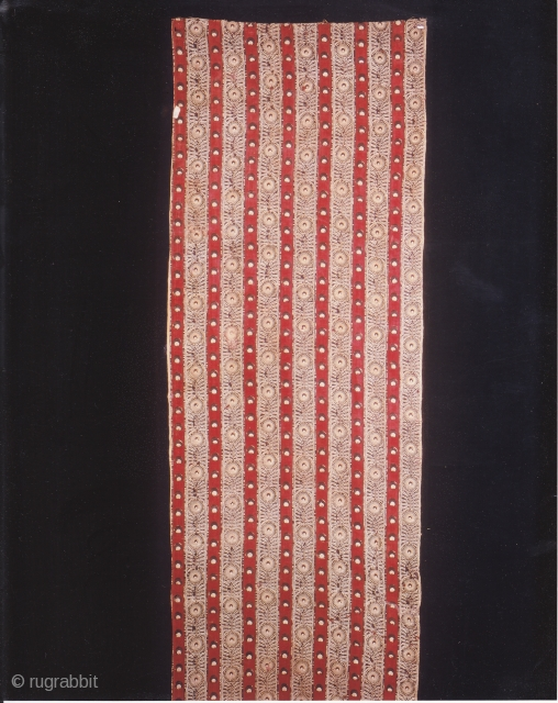 Indian Trade textiles 009, Basta, Block-prints, For the Indonesian market, plays important role as a ceremonial cloth, early 19th century, good condition. Price on request.