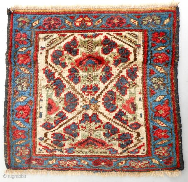 Persian Kurdish pile bagface. Circa 1870-80.