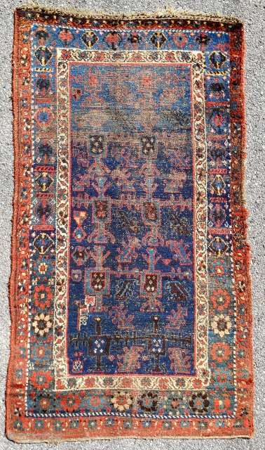 """Unique"" 19th c. Kurdish rug."