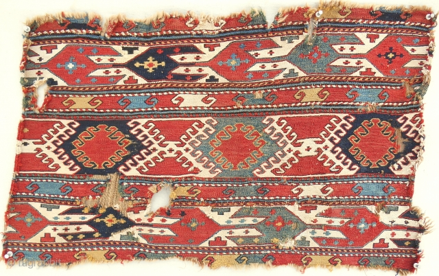 Caucasian mafrash panel > cotton whites > c. 1870