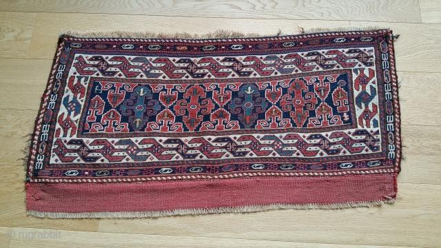 "Shahsavan Side Panel, Soumac. 37"" x 19""."