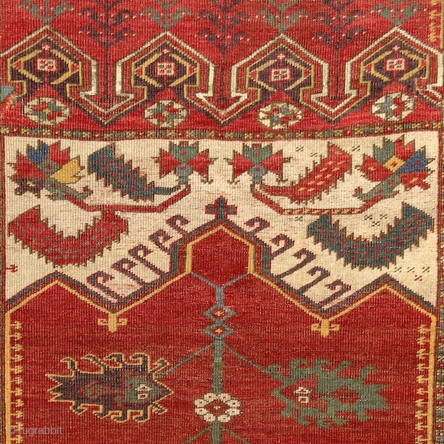 """""""Beauty is the only thing that time cannot harm."""" Oscar Wilde Ladik prayer rug, Anatolia, around 1750 Please ask for more photos and information. More beauties on sale: http://rugrabbit.com/profile/5160"""
