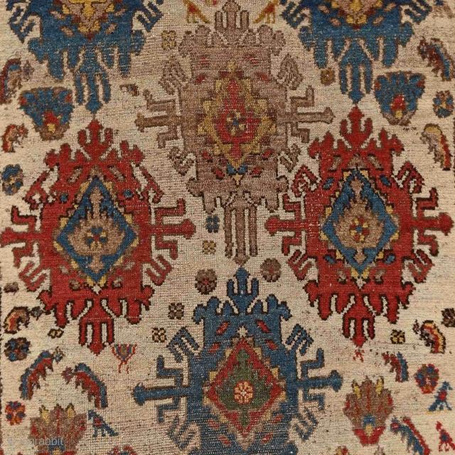 """Don't explain, enjoy."" D. Bannard Raw & energetic kurdish village rug with a lots of charming details, Persia - Hamadan region, 19th century More here: http://rugrabbit.com/profile/5160"