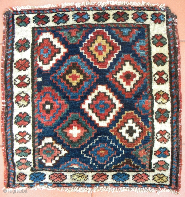 North west Persian pile bag face, warps a mix of cotton and wool, cotton wefts, mostly medium length pile, all good colours, 54 x 53 cms.