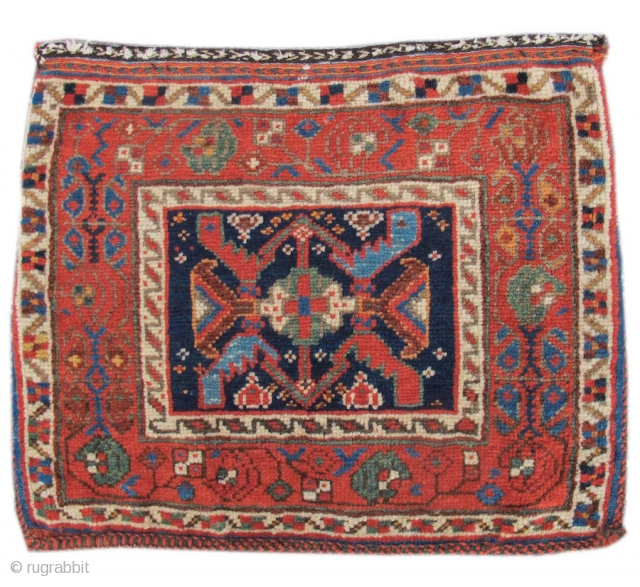 Colorful old Afshar chanteh, complete bag.